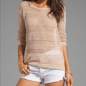 JOIE | Resi Linen Crochet Sweater Dusty Pink Sand